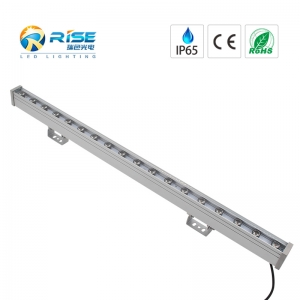 18W IP65 LED pared arandela RGB DMX512 Control